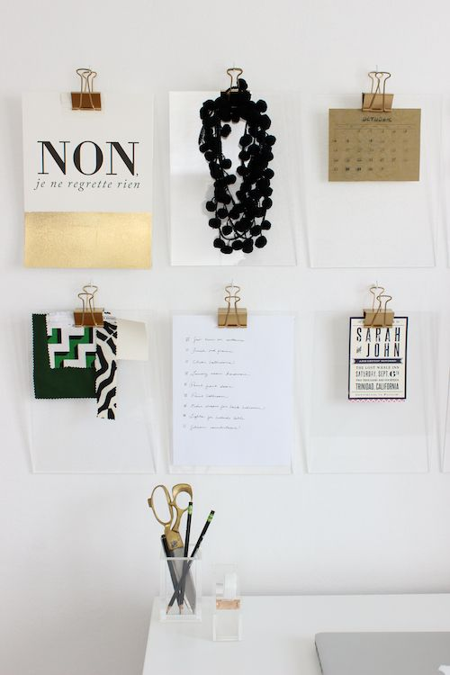 Friday Pinspiration-DIY Gold Acrylic Clipboards